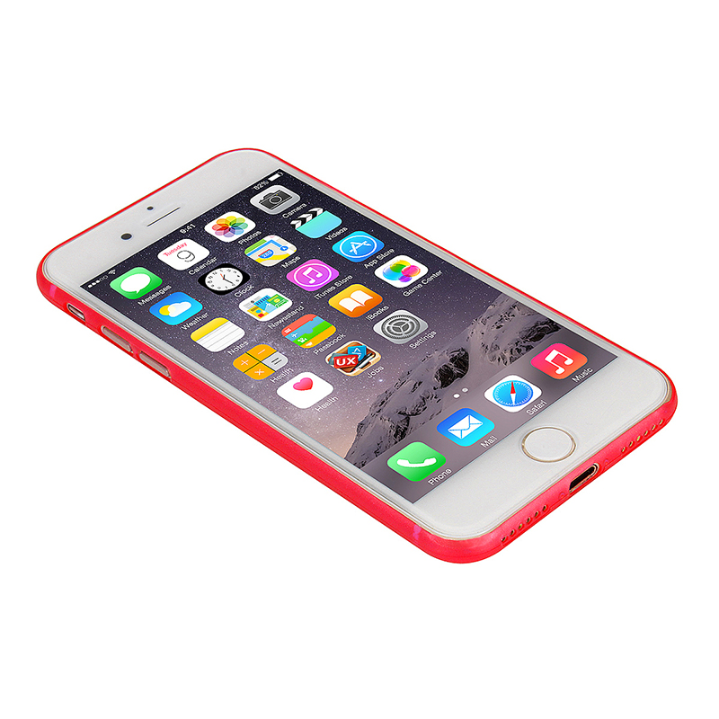 Ultra Slim Full Cover Frosted PC Phone Cover Case for iPhone 7/8 - Red