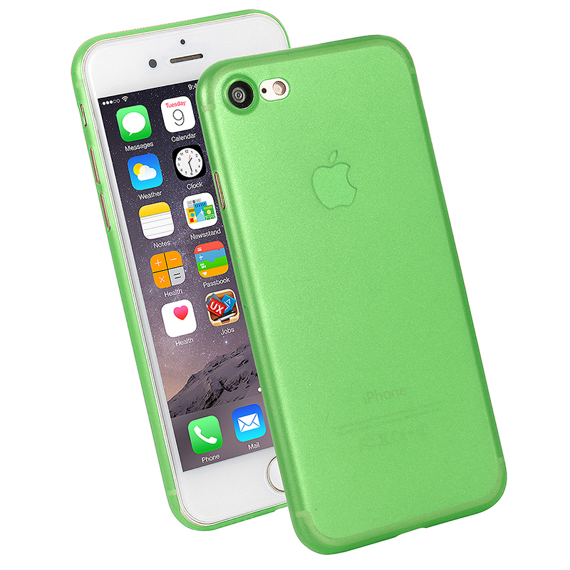 Ultra Slim Full Cover Frosted PC Phone Cover Case for iPhone 7/8 - Green