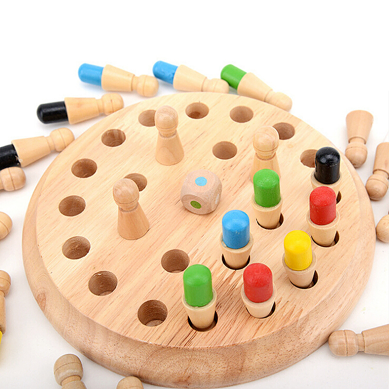 Wooden Developmental Memory Chess Board Game Toy Gift for Chidren