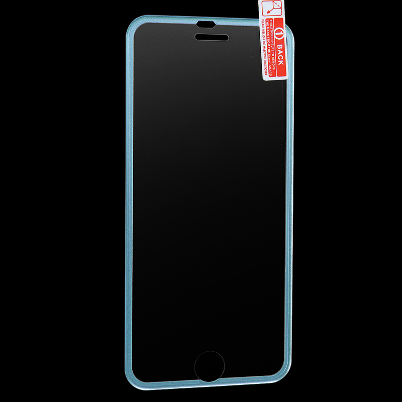 3D Tempered Glass Screen Protector Film with Curved Edge for iPhone 6/6s Plus - Blue