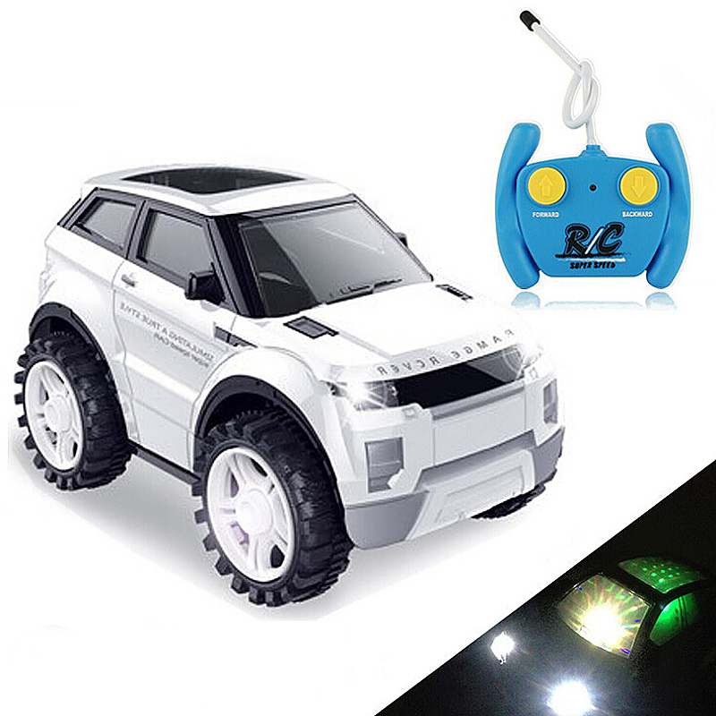 Children Remote Control Electric Toy Light Music Car - White
