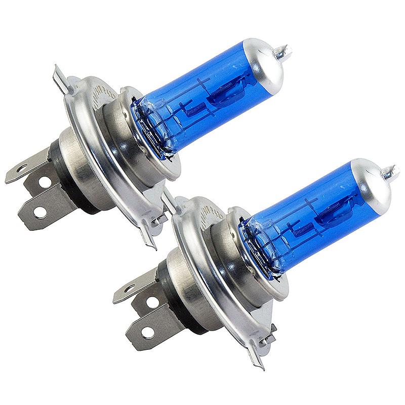 2pcs H4 12V 90/100W Halogen Lamp Super White Headlight Bulb