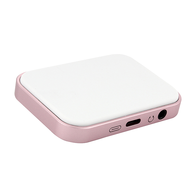 Aluminum Charging Stand Dock with Lightning 3.5mm Audio for iPhone 7 - Rose Gold