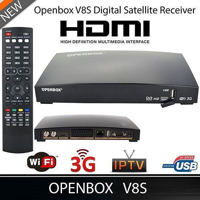OpenBox V8S HD FreeSat Digital Satellite Receiver PVR 1080P Online Movie