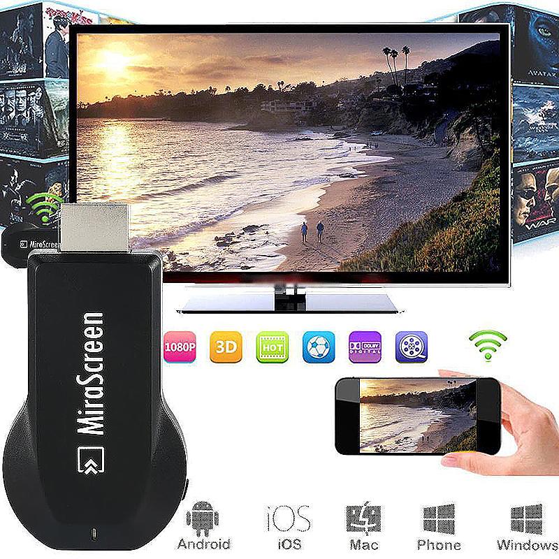 1080P MiraScreen WiFi Display Receiver AV TV Miracast Dongle Adapter