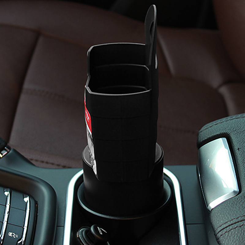 Universal Console Car French Fry Drink Can Stand Holder Container - Black