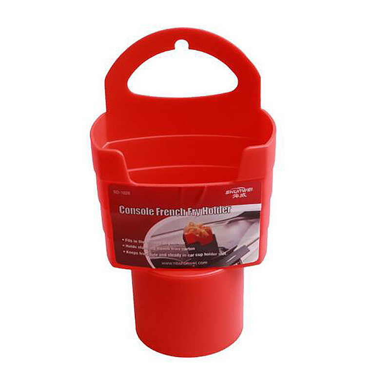 Universal Console Car French Fry Drink Can Stand Holder Container - Orange