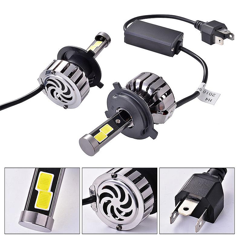 2 x LED H4/9003 Headlight Lighting 16000LM 160W Conversion Bulb Beam 6000K LD912