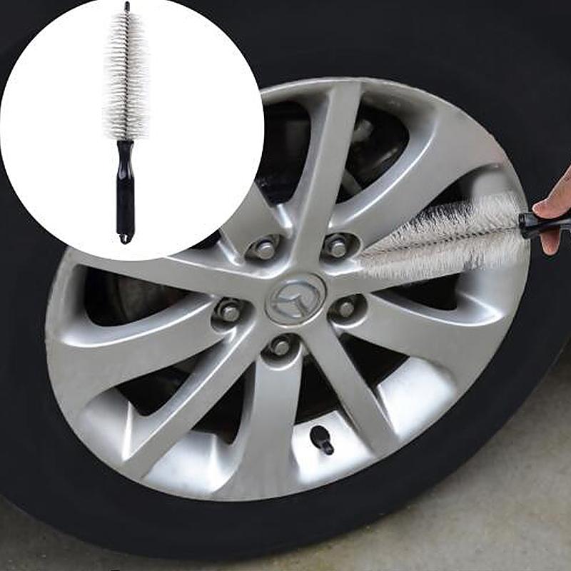 Portable Vehicle Tire Hub Washing Brush Wheel Cleaning Tool