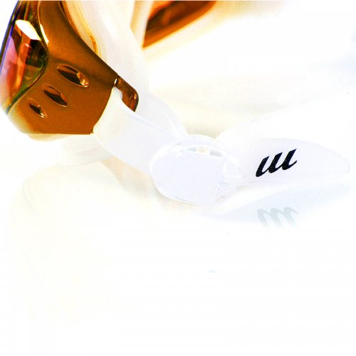 Adjustable Anti Fog Waterproof Glasses Swimming Goggles - Gold