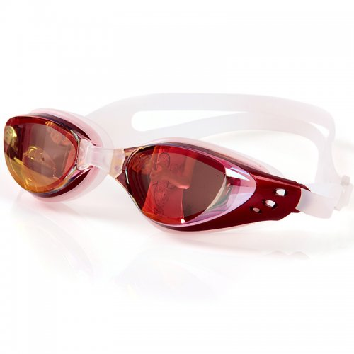 Adjustable Anti Fog Waterproof Glasses Swimming Goggles - Red