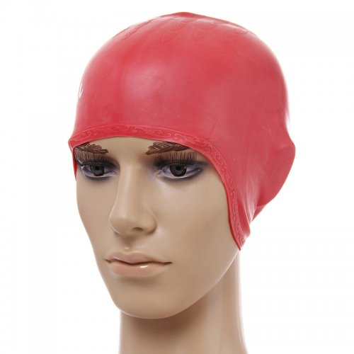 Universal Flexible Stretch Elastic Swimming Cap  Swim Hat - Red
