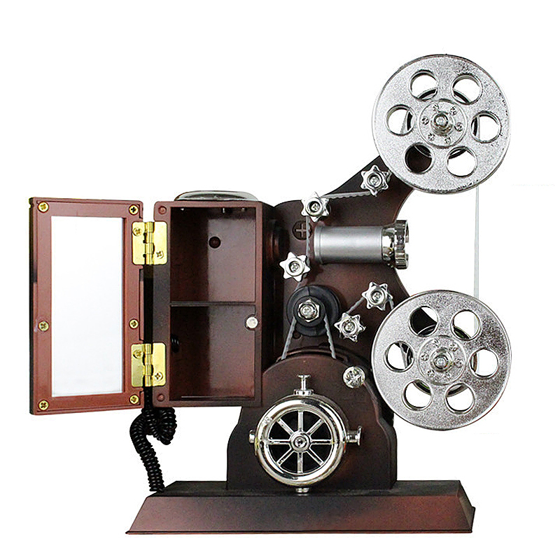 Classical Film Projector Music Box of Model Mechanical Gift Toy