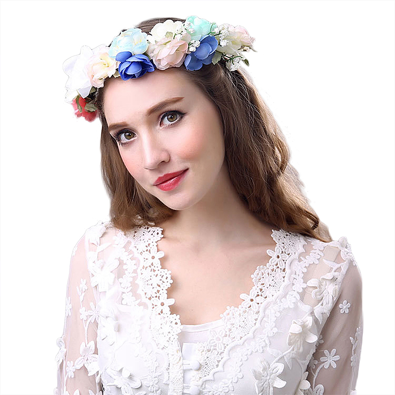 Bride Wedding Hair Accessories Flower Garland Seaside Holiday Decor