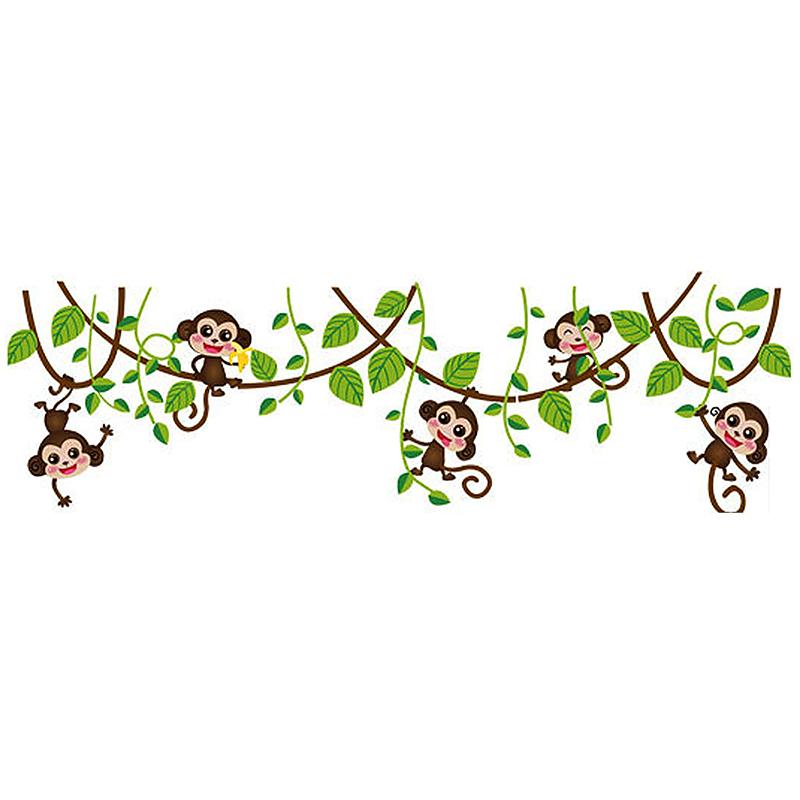 Monkey Climbing Tree Decal Wall Sticker Home Mural Decor Wallpaper