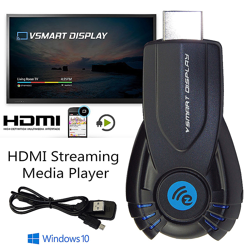 HDMI 1080P Media Player Streamer WiFi Dongle for Phone Tablet PC