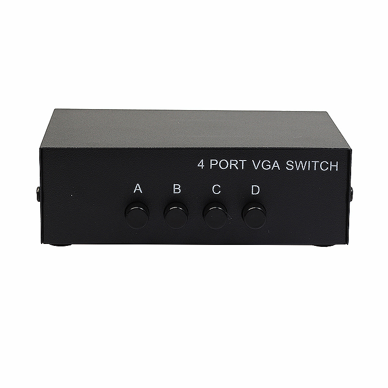 4 Way 4 Port VGA LCD Monitor Switch 4 to 1 Selector Box
