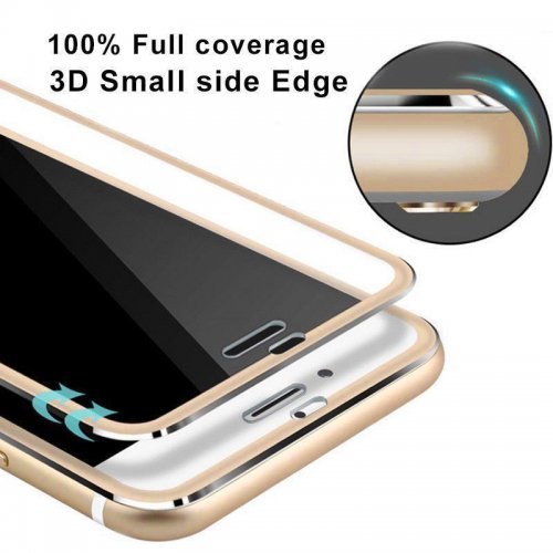 3D Tempered Glass Screen Protector Film with Curved Edge for iPhone 7/8 - Gold