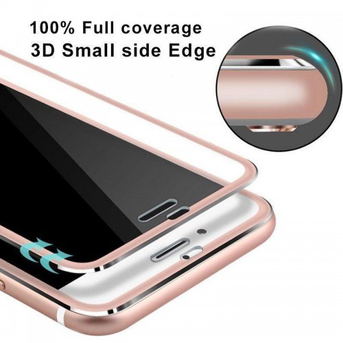 3D Curved Full Cover Tempered Glass Film Screen Protector for iPhone 7/8 Plus - Rose Gold
