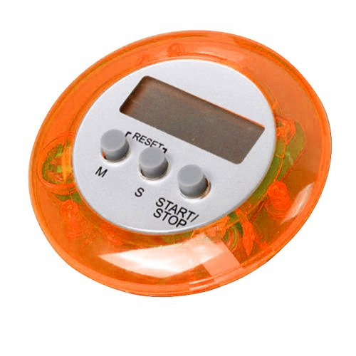 Digital Magnetic LCD Stopwatch Timer Kitchen Racing Alarm Clock - Yellow