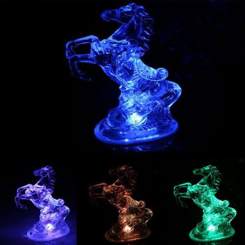 Standing Horse Shaped Multi Color Night Light Desk Bedroom LED Lamp Home Decor