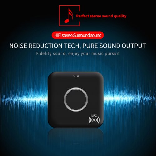 Bluetooth 4.1 NFC 3.5mm Wireless Audio Receiver for Home Car Sound System