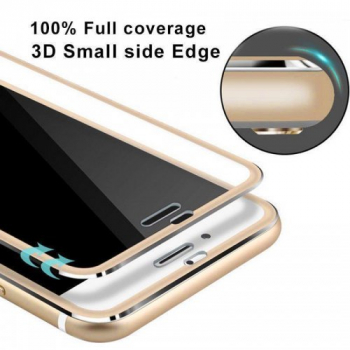 3D Curved Full Cover Tempered Glass Film Screen Protector for iPhone 7/8 Plus - Gold