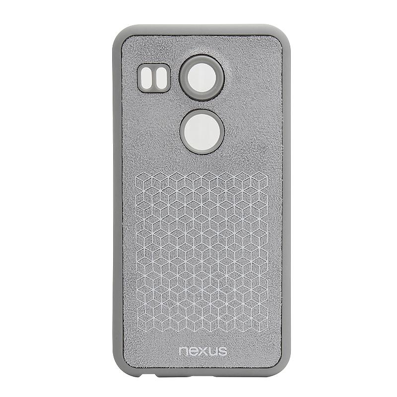 Premium Soft Cover Skin Phone Back Case for Google Nexus 5X - Gray