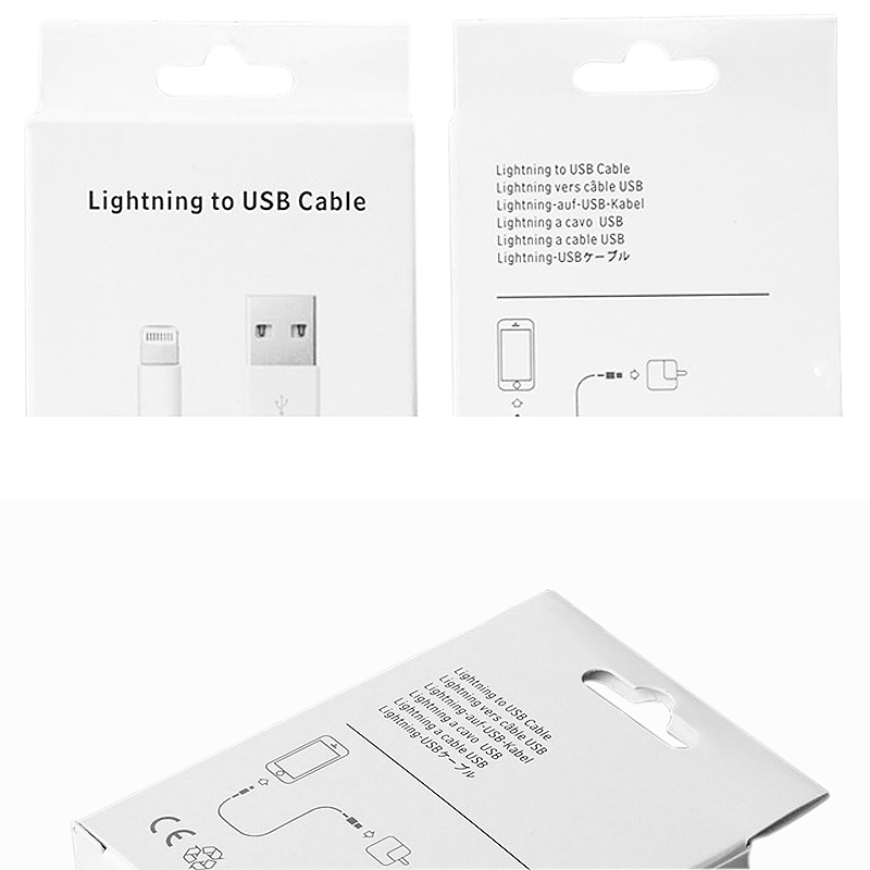 Lightning to USB Cable Packing Box for iPhone Series 5/6/7/8/7plus/8plus Data Cable(Box Only)