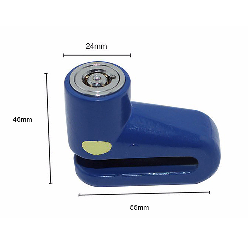 Heavy Duty Motorbike Bike Scooter Bicycle Security Disc Lock - Blue