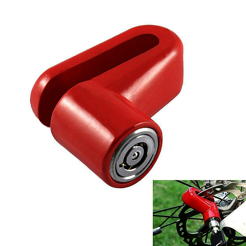 Heavy Duty Motorbike Bike Scooter Bicycle Security Disc Lock - Red