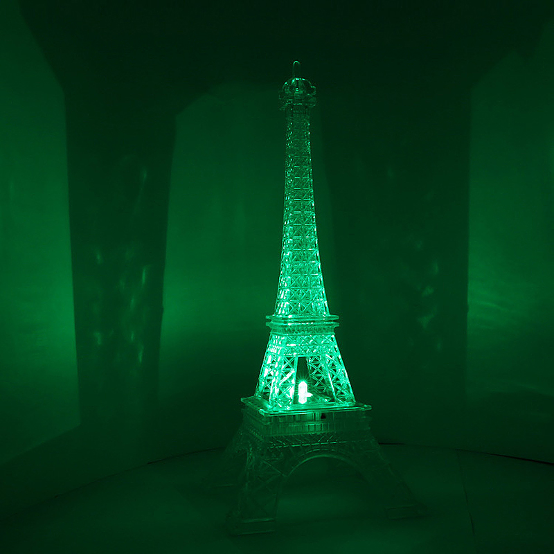 Small Size Multi Color Eiffel Tower Desk Bedroom LED Lamp Night Light Room Decor