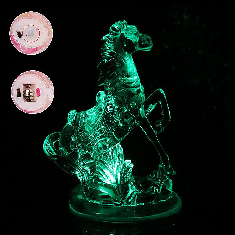 Running Horse Shaped Multi Color Night Light Desk Bedroom LED Lamp Home Decor