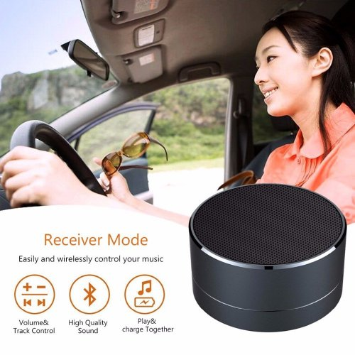A10 Mini Portable Wireless Bluetooth Speaker for iPhone iPod iPad Samsung - Black