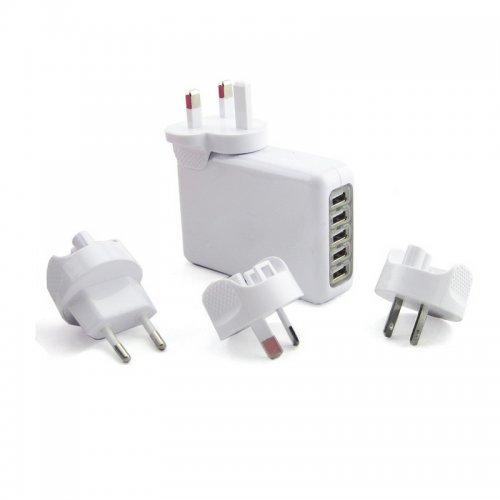 Multi Function 5 USB Travel Power Adapter Charger Converter Socket