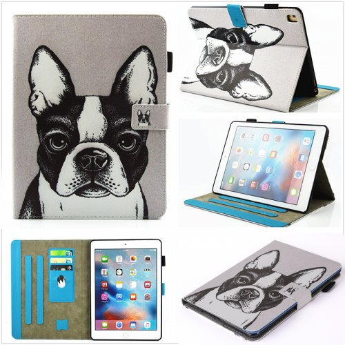 Multifunctional PU Leather Smart Cover Stand Case for 9.7 inch iPad Pro - Bulldog