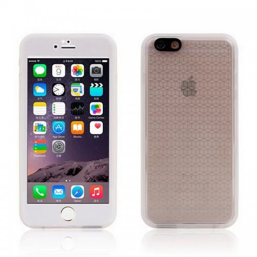 TPU Waterproof Protective Phone Case Cover for iPhone 6S - Grey
