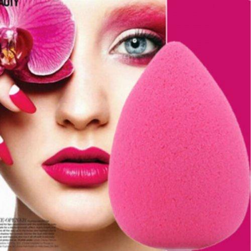 Cosmetic Makeup Water Sponge Blender Flawless Smooth Puff - Rose Red