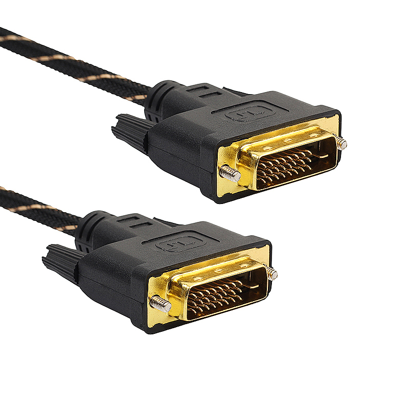 5m DVI Male to DVI Male Gold Plated Cable for Digital Video HDTV LCD