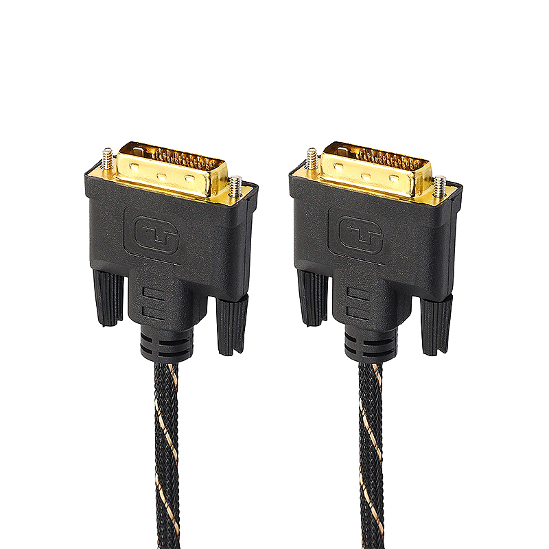 1.8m DVI Male to DVI Male Gold Plated Cable for Digital Video HDTV LCD