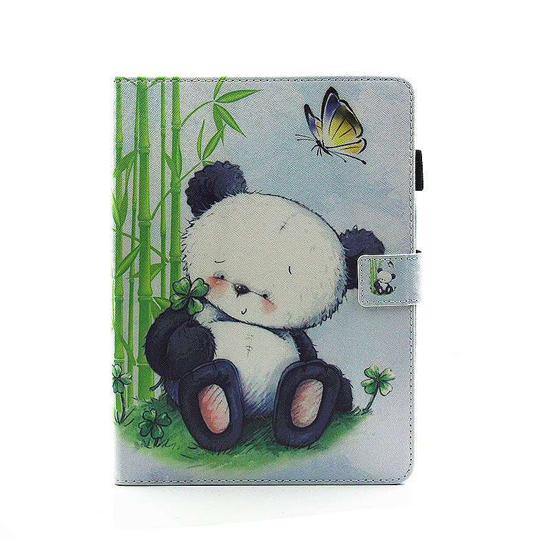 Multifunctional PU Leather Smart Cover Stand Case for 9.7 inch iPad Pro - Panda