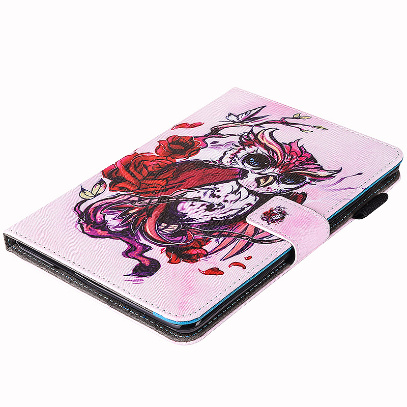 Multifunctional PU Leather Smart Cover Stand Case for 9.7 inch iPad Pro - Red Owl