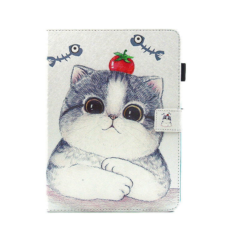Multifunctional PU Leather Smart Cover Stand Case for 9.7 inch iPad Pro - Cute Cat