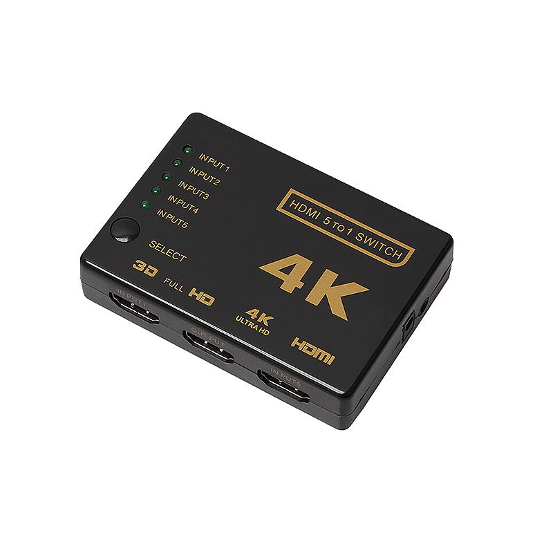 3D HDMI 5 Port to 1 Switcher Selector 4K Switch Splitter for HDTV