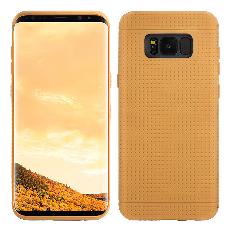 Honeycomb Dot Phone Protector Cover Soft TPU Case for Samsung Galaxy S8 Plus - Brown