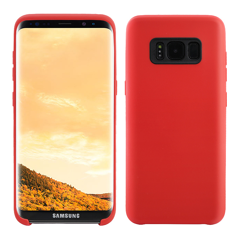 Samsung Cover Soft TPU Skin Back Phone Case for Samsung Galaxy S8 Plus - Red