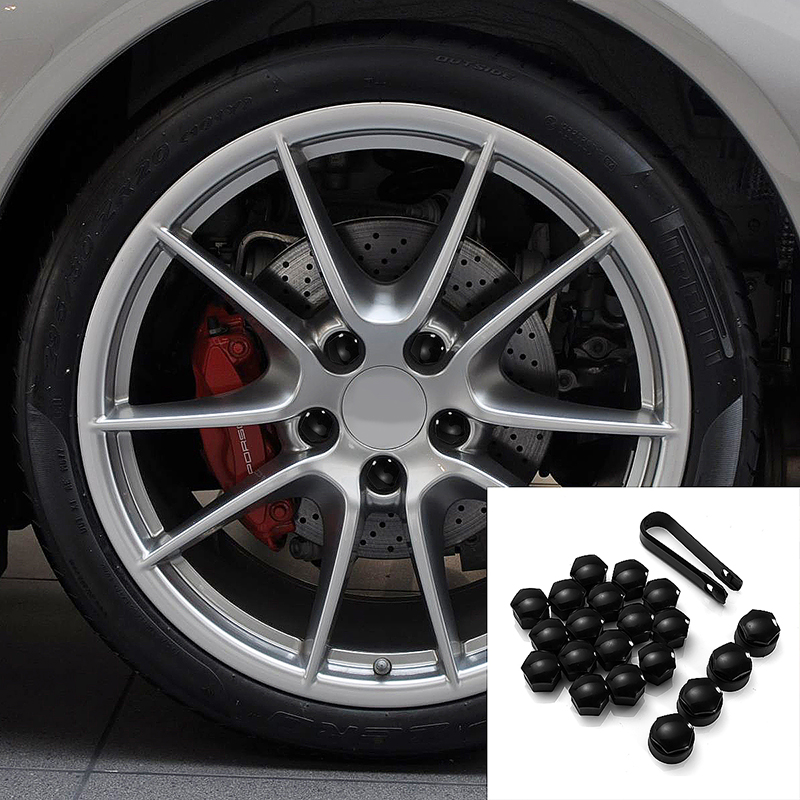 16 Wheel Nuts with 4 Lock Nuts and Cap Tweezers Car Tool