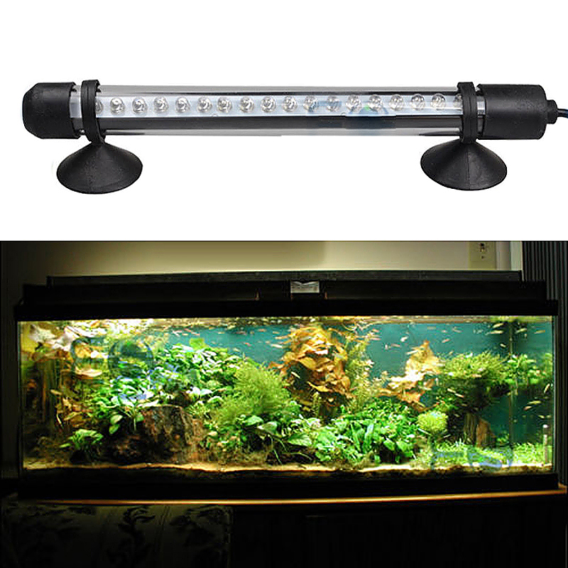 Aquarium Fish Tank Waterproof White Lamp Submersible LED Light Bar - 18cm