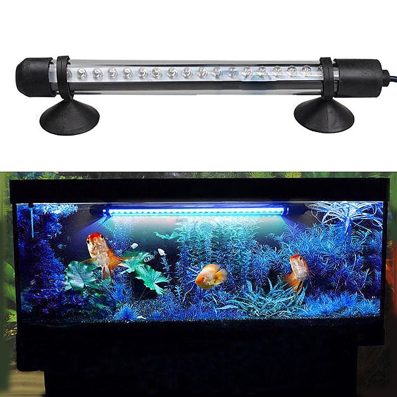 Aquarium Fish Tank Waterproof Blue Lamp Submersible LED Light Bar - 18cm