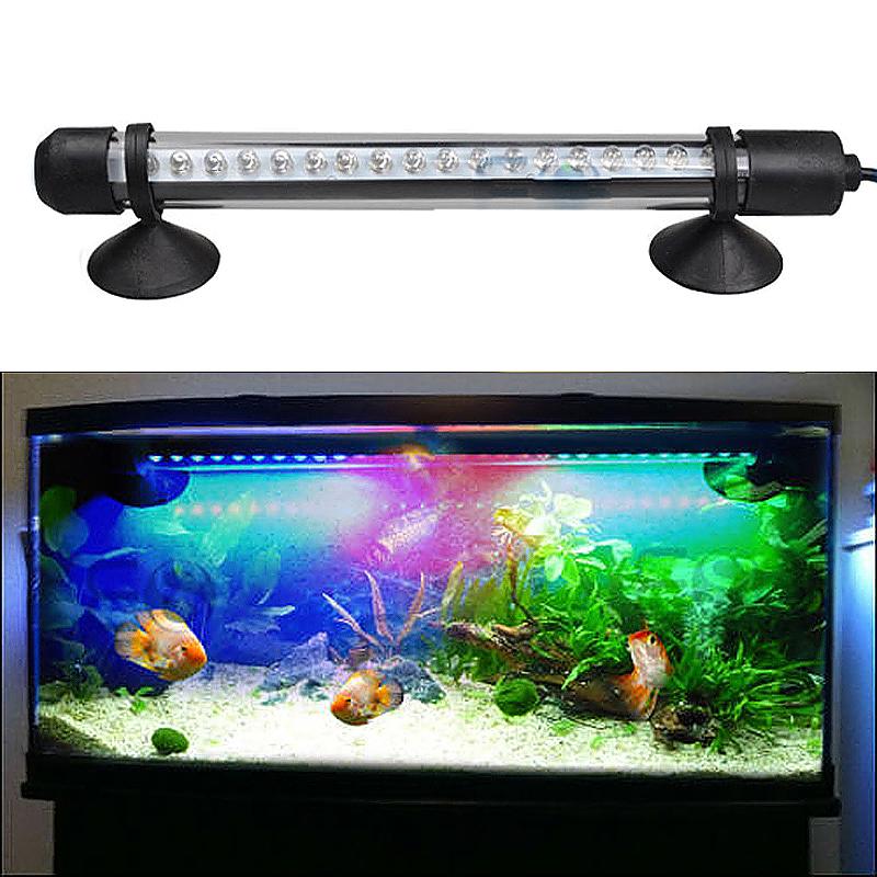 Aquarium Fish Tank Waterproof Red + Blue Lamp Submersible LED Light Bar - 18cm